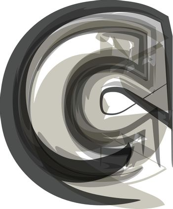 Abstract Letter c