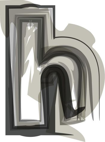 Abstract Letter h