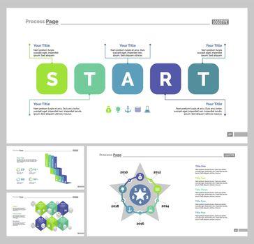 Four Startup Slide Templates Set