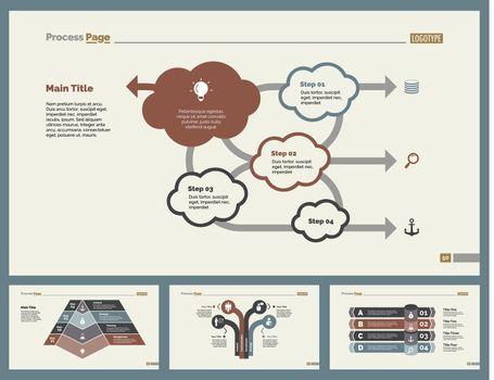 Four Teamwork Slide Templates Set