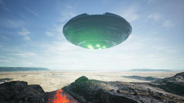 UFO lands in the desert
