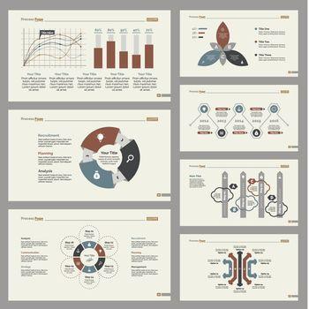 Seven Business Slide Templates Set