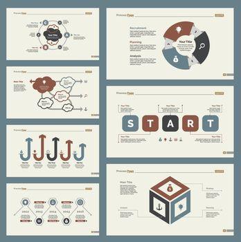 Seven Planning Slide Templates Set