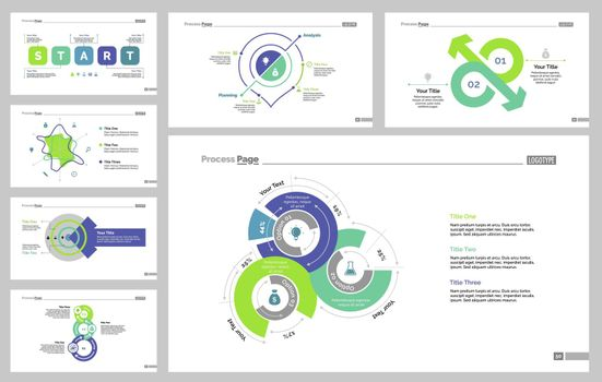 Seven Statistics Slide Templates Set