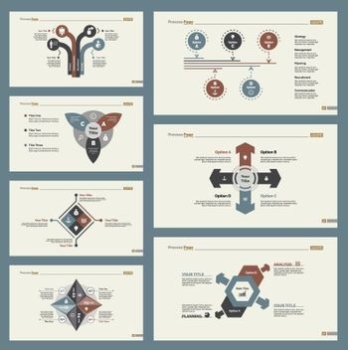 Seven Workflow Slide Templates Set