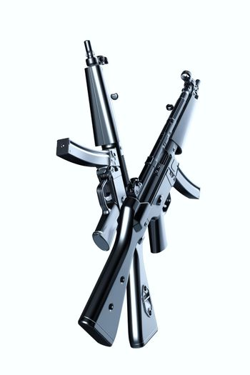 Assault rifle isolated on white background 3d illustration