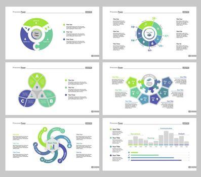 Six Management Slide Templates Set