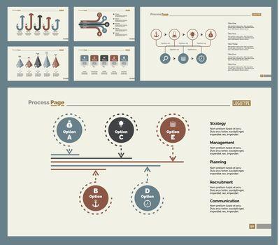 Six Marketing Slide Templates Set