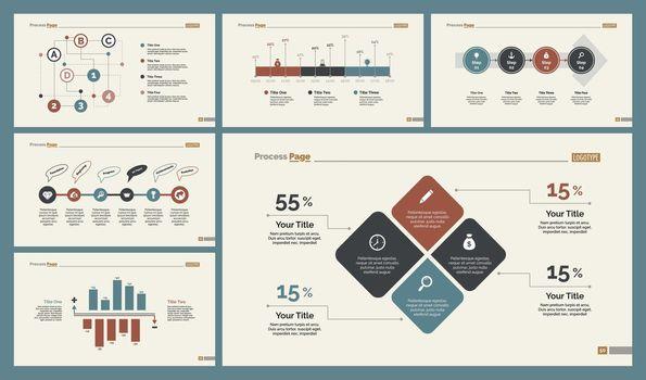Six Statistics Diagrams Templates Set