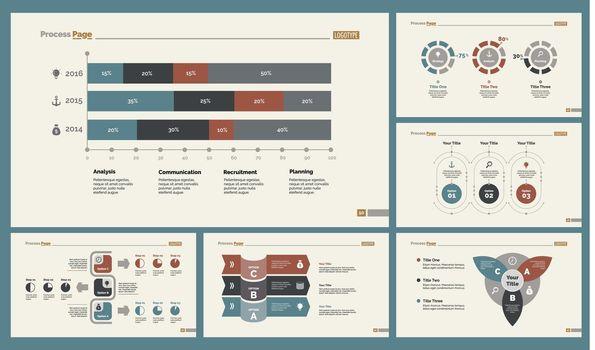 Six Strategy Slide Templates Set