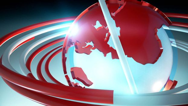 HD broadcast news background. Loopable