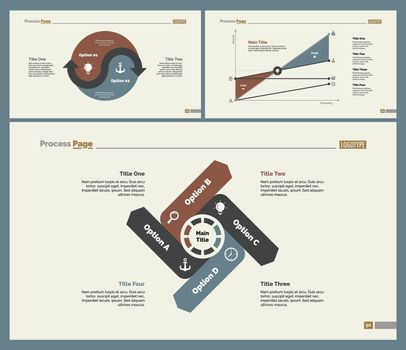 Three Analytics Slide Templates Set