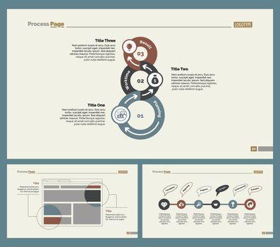 Three Workflow Slide Templates Set