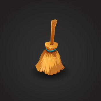 Broom vector illustration