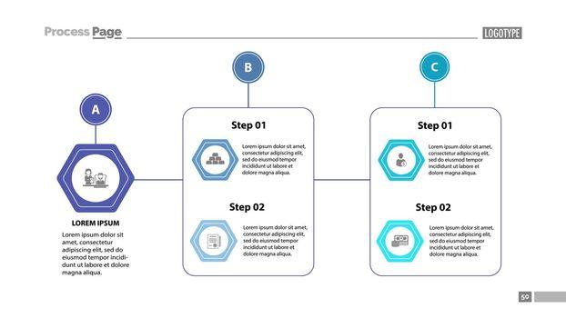 Complex process chart slide template