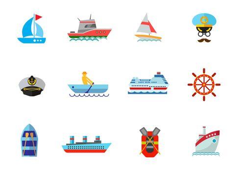 Cruise icon set