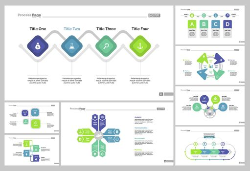 Eight Marketing Charts Slide Templates Set