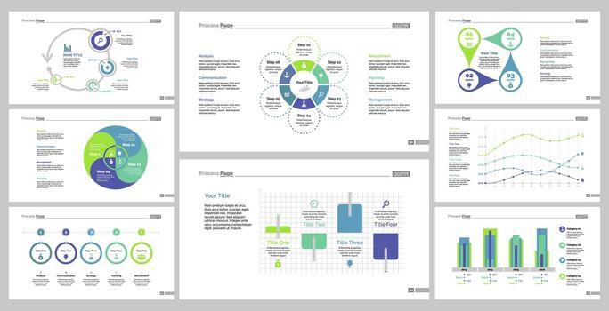 Eight Statistics Slide Templates Set