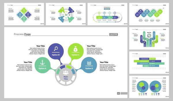 Eight Workflow Slide Templates Set