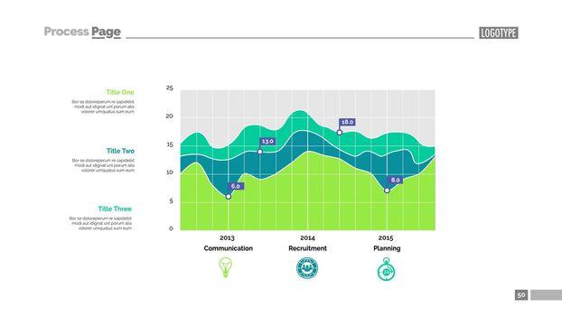 Graph in statistics slide template