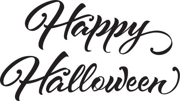 Happy Halloween calligraphy