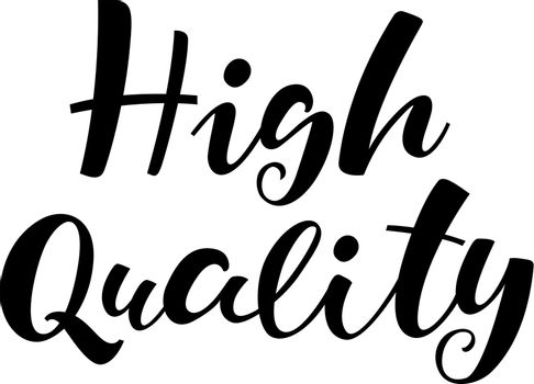 High Quality lettering