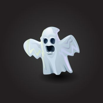 Scary ghost vector illustration