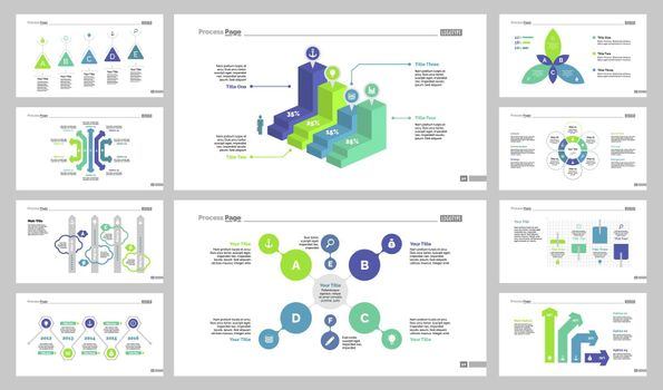 Ten Statistics Slide Templates Set