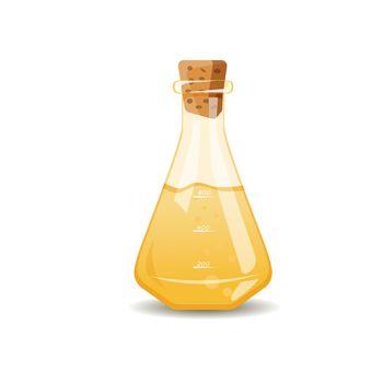 Yellow liquid in flask