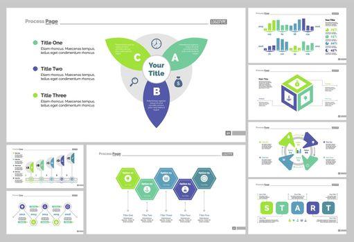 Eight Startup Slide Templates Set