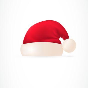 Santa hat with pompom