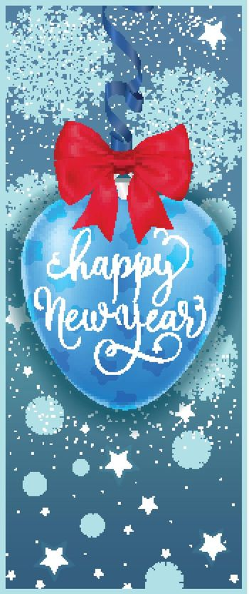 Bauble with Happy New Year lettering