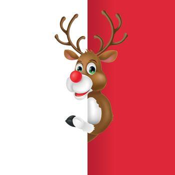 Christmas Deer Cartoon Character