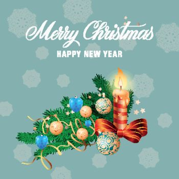 Christmas and New Year congratulation