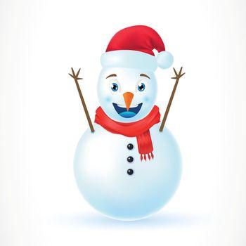 Illustration of Christmas Snowman