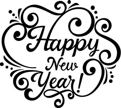 New Year Calligraphic Lettering