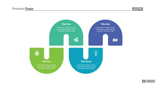 Process Infographics with Four Elements