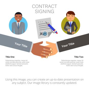 Business Infographics with Two Elements