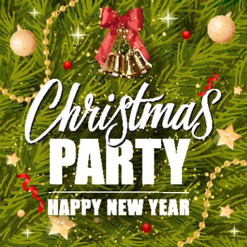 Christmas Party Lettering and Bells
