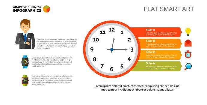 Clock diagram Slide Template