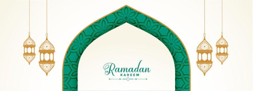 cultural ramadan kareem festival banner design