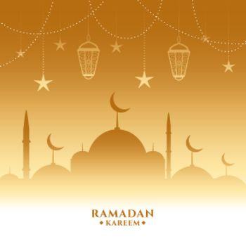 golden ramadan kareem beautiful background