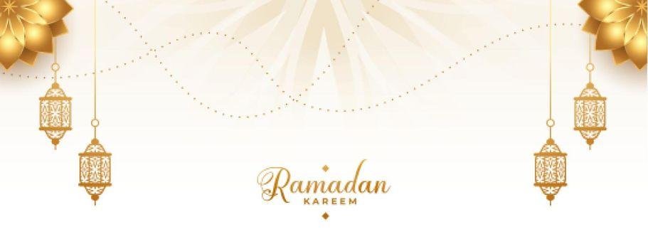 ramadan kareem arabic golden banner design