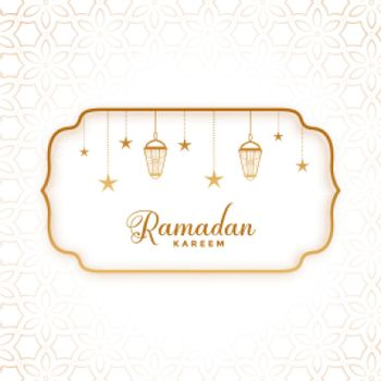 ramadan kareem greeting in flat style