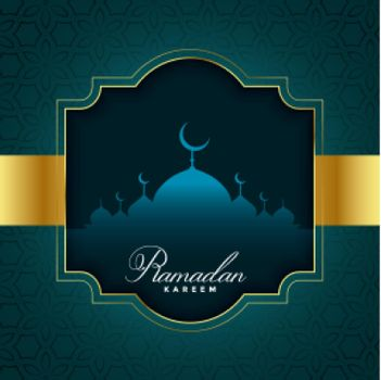 ramadan kareem illustration in golden style