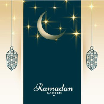 ramadan kareem religious greeting with sparkles