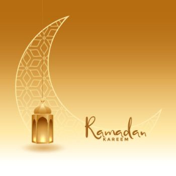 realistic ramadan kareem golden greeting design