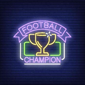 Football champion neon sign