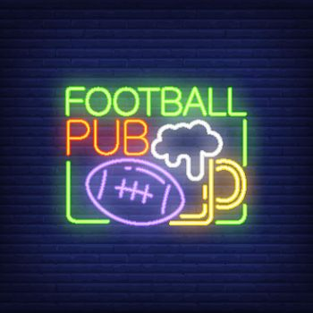 Football pub neon sign