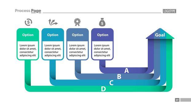 Four Options Diagram SlideTemplate